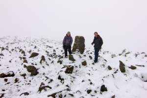 Nich and Dave on Scafell pike summit