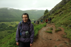 Already getting damp on Ben Nevis