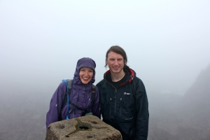 Nich and Dave on Ben Nevis